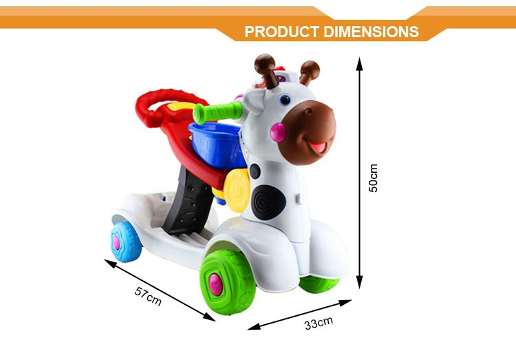 New products 3-in-1 Deer shape children ride on scooter car