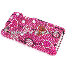 Diamond Case For iPod Touch 4,Fashion Bling case for iPod touch 4 4th snap on Case