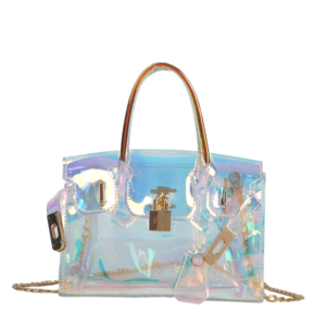 2019 new transparent PVC Jelly bag women handbag wholesale Chain Shoulder Bags