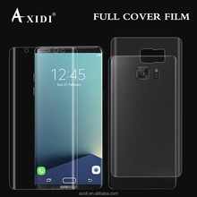 Full coverage silicone screen protector for Samsung S8 HD clear Anti-Bubble Scratch-Resistant film