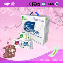 100% natural fiber Biodegradable women sanitary pad with negative ion factory