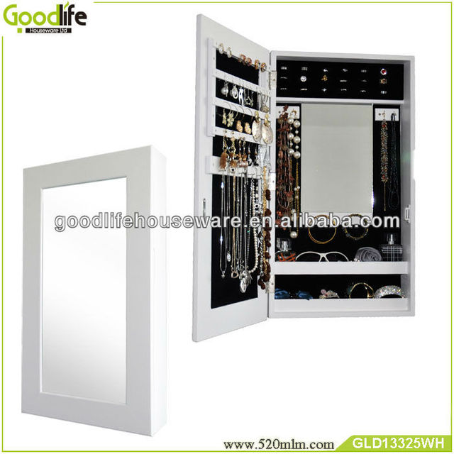 white jewelry armoire cheval mirror,wooden furniture from China