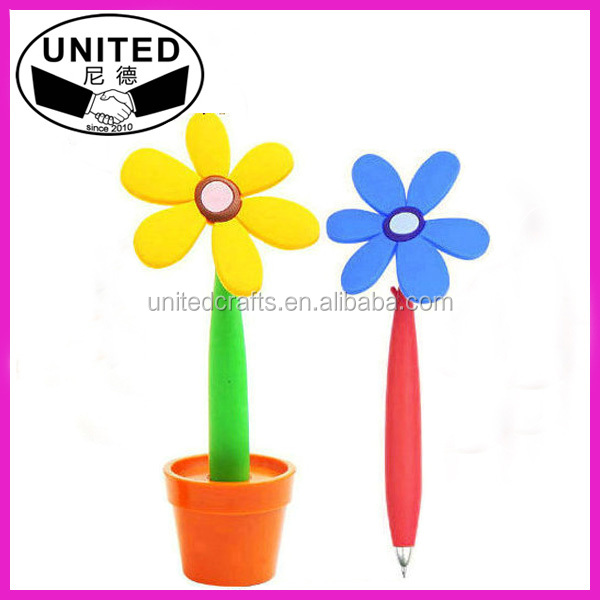 cheap flower shaped pen for promotion