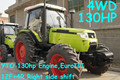 80hp to 130hp tractor,12F+4R shift right side,hydraulic steering,dual disc clutch,540/1000 PTO,diesel engine,cabin with A/C