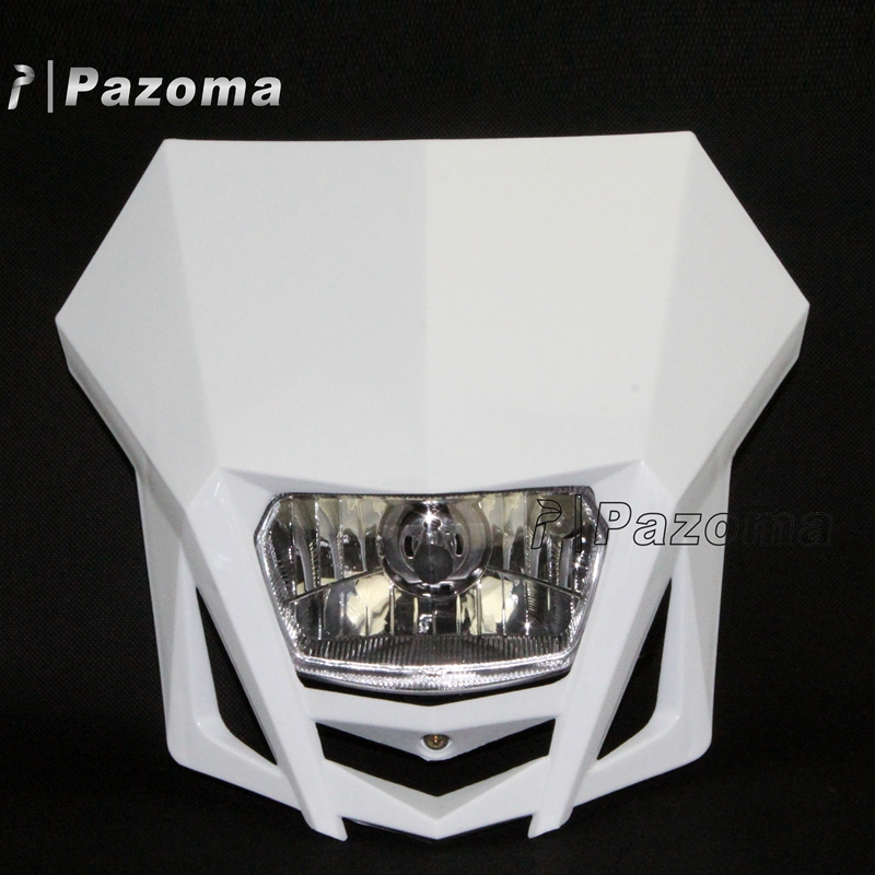 Motorcycle LMX Cute Lamp Mask Headlight White Head Lamp Light For Yamaha XT 125 XT 350 WR 450 YZ 250 600