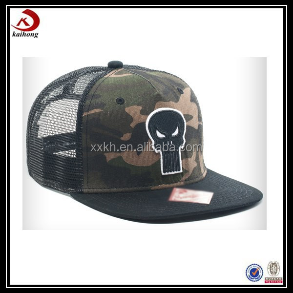 china suppliers custom digital camo cheap plain embroidery trucker hat