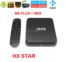 Best Google Android 4.4.2 Smart TV Box Aml M8s Octo-core Mali-450MP GPU Quad core Cor-tex A9 Support Free sports Fly Air Mouse