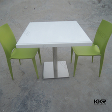 Customized solid surface square marble coffee tables for sale