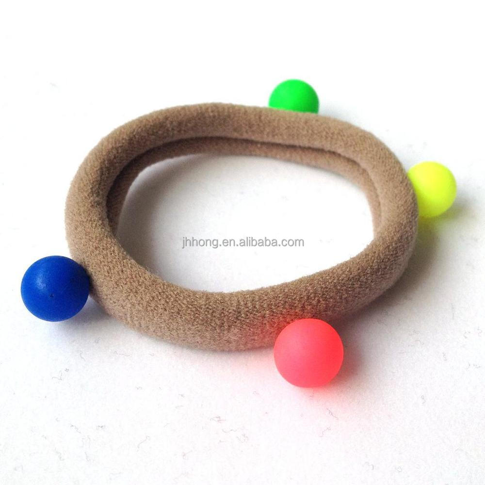 Baby hair ties Cute elastic hair band with ball knitted hair tie