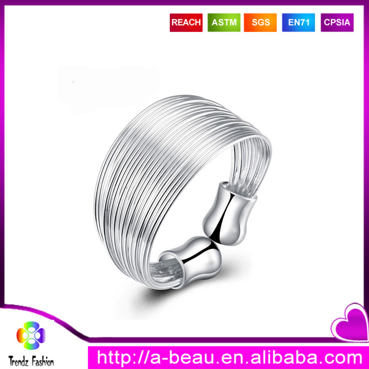 Multiwire Open-End 925 Sterling Silver Napkin <strong>Ring</strong>