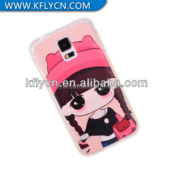 top quality nice girl painting plastic phone cover for samsung note