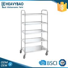 Heavybao Stainless Steel Knocked-down Kitchen Wine Trolley Serving Food Service Cart