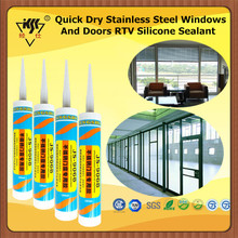 Quick Dry Stainless Steel Windows And Doors RTV Silicone Sealant