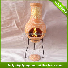 Europe style outdoor clay fire chiminea for home and garden