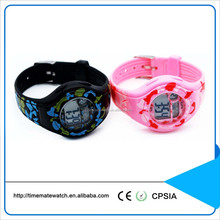 Water resistant silicone strap metal case light up kids digital sports watch