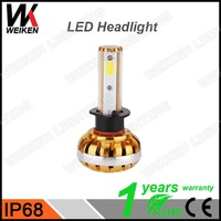 WEIKEN depo auto lamp h7/ h4 waterproof led headlight kit 30w used cars export auto parts accessories