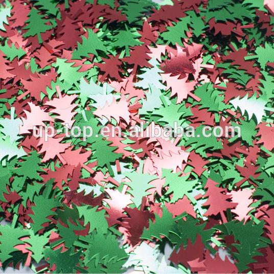Metallic Christmas Tree Shape Glitter Confetti decor Xmas party