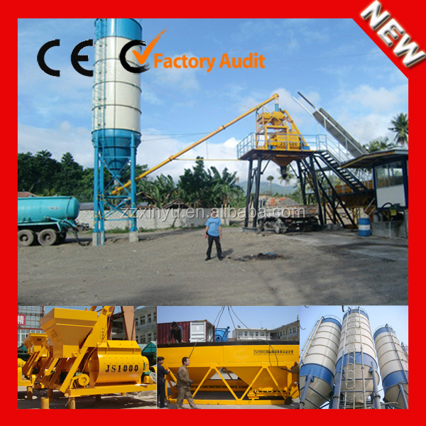 Xinyu low cost of HZS 25m3/h concrete cement batching plant