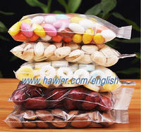 Clear Plastic zipper bag for food packaging