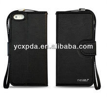 hot selling credit card slot thin wallet leather case for iphone5C
