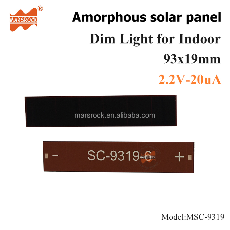 93x19mm 2.2V thin film solar cell Customized Small size solar panels for toys, lighting control
