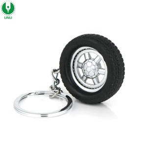 Fashion Custom Tyre Keychain/Plastic Key Ring/Car Tire