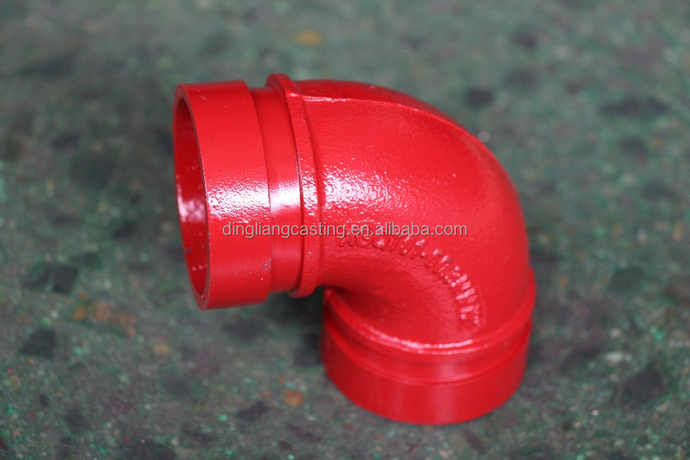 FM UL used in ire -fighting ,water supply electric power Approved ductile iron Grooved Pipe Fitting grooved and coupling