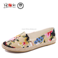 Printing Women Canvas Shoes,casual shoes espadrille for girls