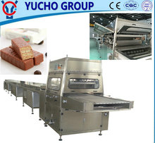 Candy Biscuit Chocolate Snickers Bar Enrobing Machine For Donut