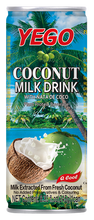 coconut milk with nata de coco