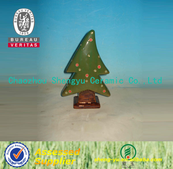 2014 new products ceramic christmas tree ornaments