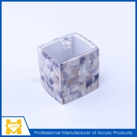 Hot selling acrylic plexiglass round mini party favor candy box container