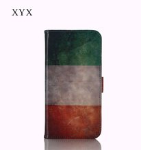 flag pattern brilliant pu material leather flip case for Microsoft 230