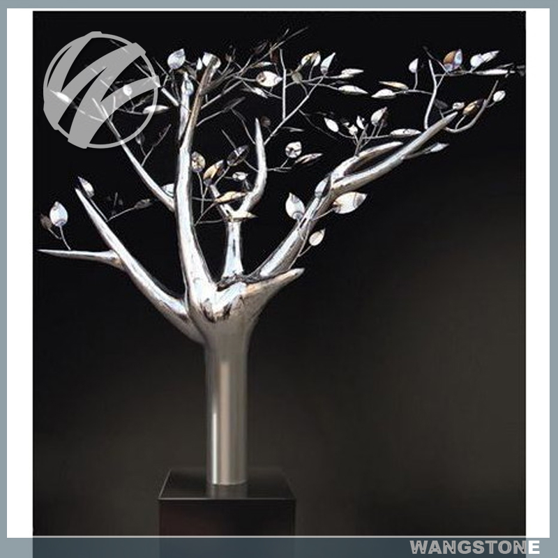 Contemporary Indoor Decor Metal Stainless Steel Tree Sculpture
