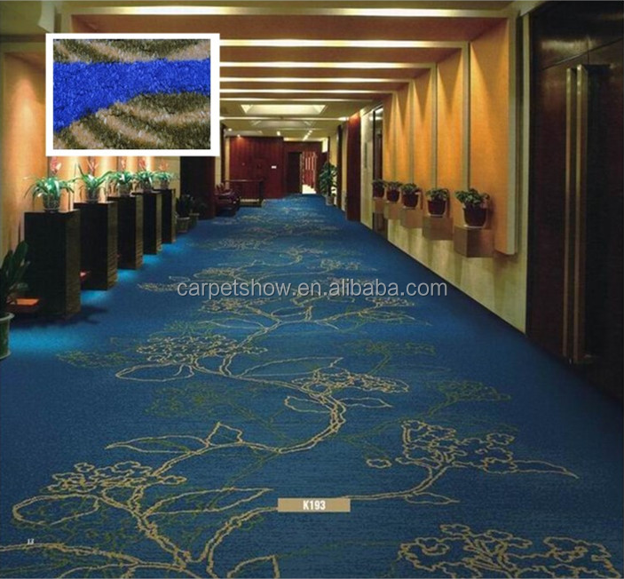 Wall to wall nylon printed luxury carpet for hotel room