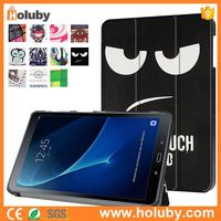 Wholesale Don't Touch My Phone/Pad 3 Folding Leather for Samsung Galaxy Tab A 10.1 T580 T585 Tablet Case Cover