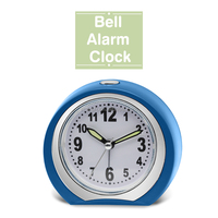 Home decoration Ananlog Table beep alarm clock with moon shape
