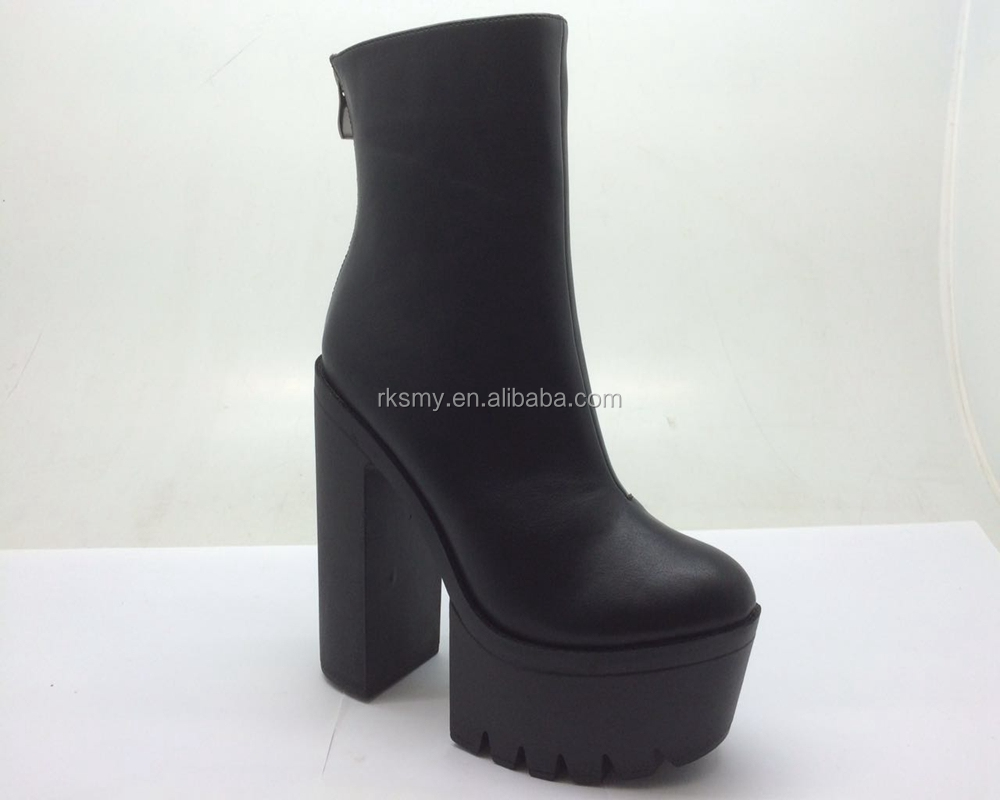 top sale new fashion high heel chunky women winter boots