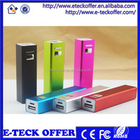 Factory Price 2600mah Power Bank Charger Mobile Power Bank
