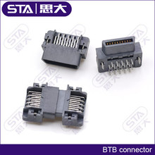 Straight pin 1.27mm wire to wire 40p plactic connector for computer router