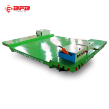 Material handling electric flatbed rail car
