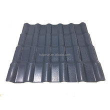 Cheap price ASA coated PVC plastic roofing sheet spanish light weight tile roof
