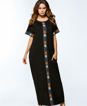 X84167A African New Fashion Design Cotton Embroidery Women Maxi long Dresses
