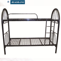 double decker meta frame bunk bed with mesh for adult