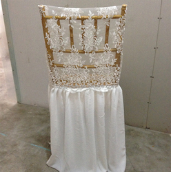 Universal Ruffled Lace Chair Covers Wedding Wholesale China