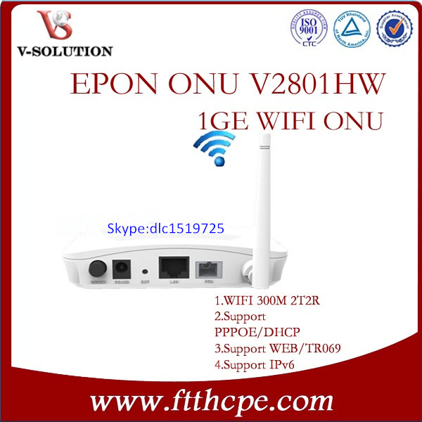 Compatible with BDCOM huawei ZTE olt Support WEB wifi 1GE onu GEPON ONU