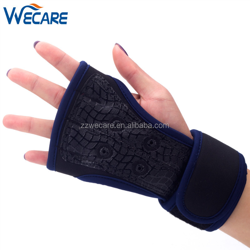Stock Men Women Wrist Support Silicone Padding WOD Gym Workout Weightlifting Fitness <strong>Weight</strong> Lifting Cross Training Gloves
