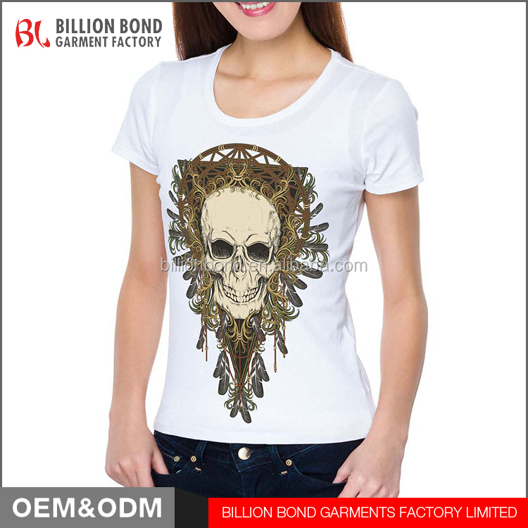 Women Skull Dream Catcher Printing T <strong>Shirt</strong> Wholesale custom logo t <strong>shirt</strong>
