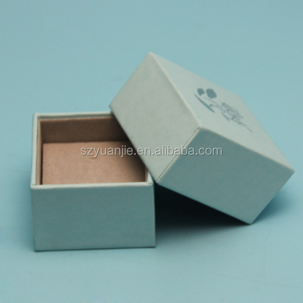 hot print silver logo Jewellery Kraft box white cushion insert for necklace