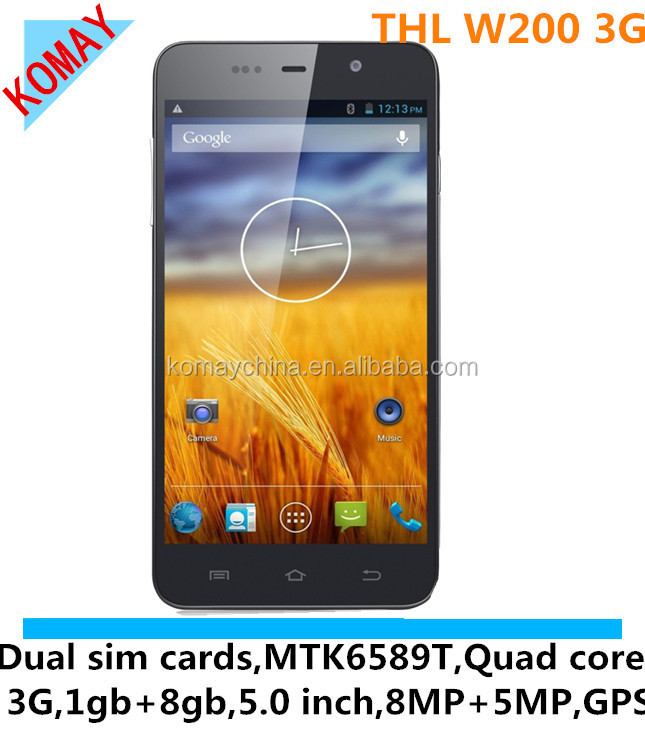 "KOMAY Original THL W200 W200S MTK6592 Octa Core Mobile Phone 5.0"" Screen 1GB RAM 32GB ROM 8MP Camera"